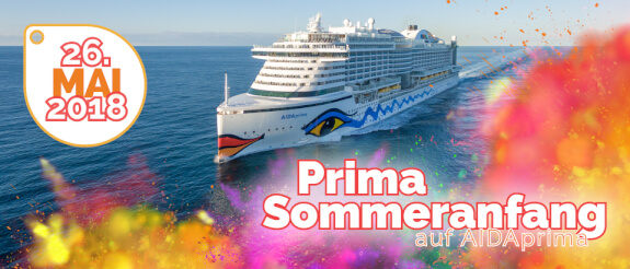 AIDA Prima Sommeranfang 26.05.2018