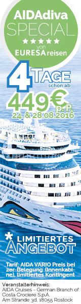 Kurzreise von Warnemünde nach Kiel Special am 28.08.2016