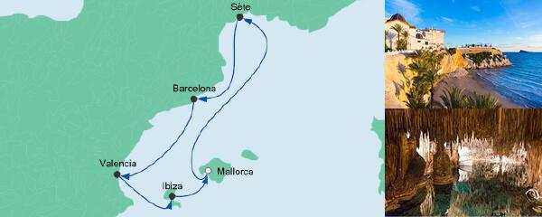AIDA Pauschal Angebot Spanien & Frankreich 1