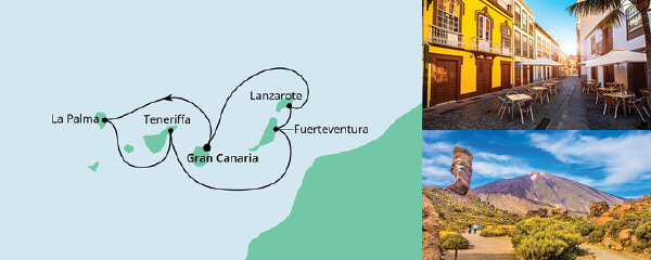 Routenverlauf Kanaren ab Gran Canaria am 12.12.2020