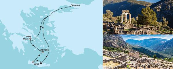 Routenverlauf Östliches Mittelmeer ab Kreta I am 09.09.2022