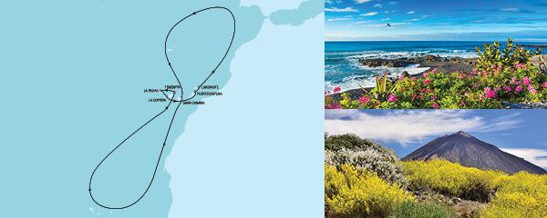 Routengrafik Blaue Reise - Kanarische Inseln 3