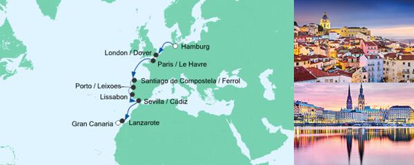 AIDA Verlockung der Woche Angebot Von Hamburg nach Gran Canaria 3