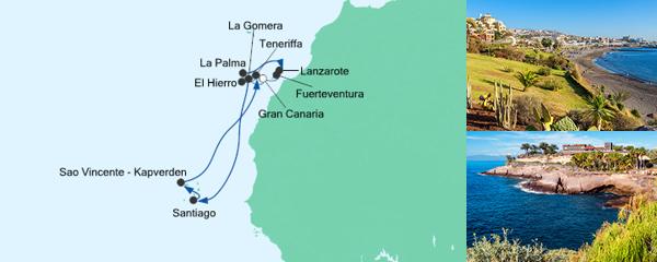 AIDA Pauschal Angebot Kapverden & Kanaren 1