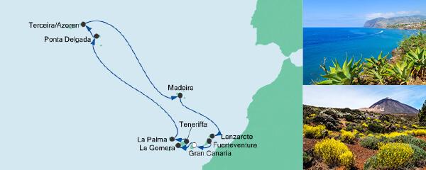AIDA Pauschal Angebot Azoren & Kanaren