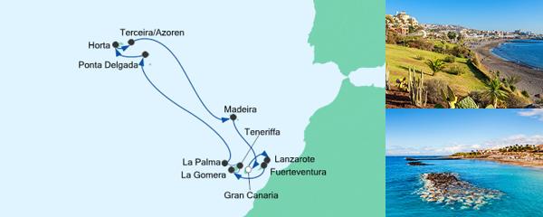 AIDA Pauschal Angebot Feiertagsreise Azoren & Kanaren