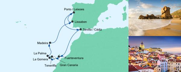 AIDA Pauschal Angebot Portugal, Spanien & Kanaren