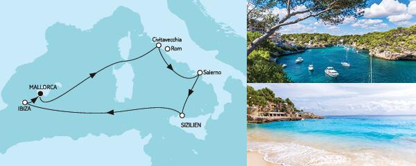 7 Tage Mittelmeer mit Palermo