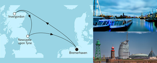 Routenverlauf Kurzreise mit Dover & Le Havre am 02.06.2022