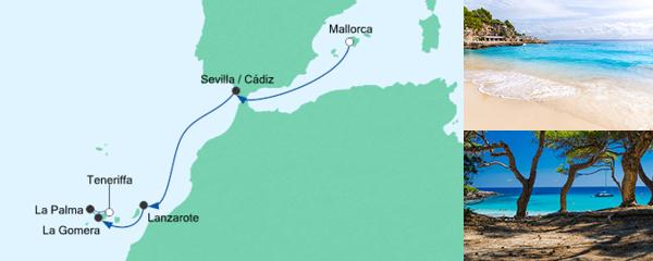 AIDA Seetours Angebot Von Mallorca nach Teneriffa