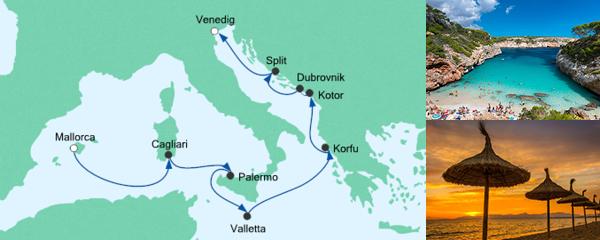 AIDA Pauschal Angebot Von Mallorca nach Venedig 1