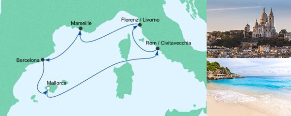 Routenverlauf Perlen am Mittelmeer 3 am 01.02.2020