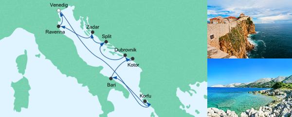 AIDA Seetours Angebot Große Adria-Reise