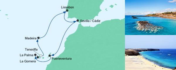 AIDA Seetours Angebot Kanaren, Portugal & Spanien 1