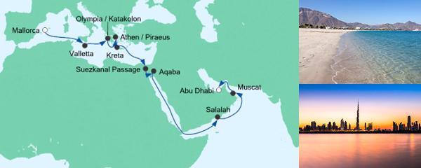 AIDA Angebotsextra Von Mallorca nach Abu Dhabi 2