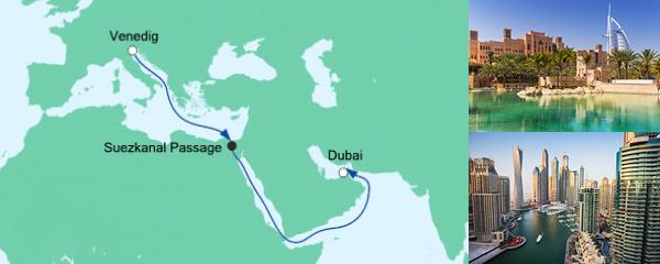 AIDA Angebotsextra AIDA pur von Venedig nach Dubai