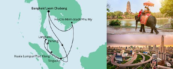 Mein Schiff Special EURESAreisen Thailand, Malaysia & Singapur 1