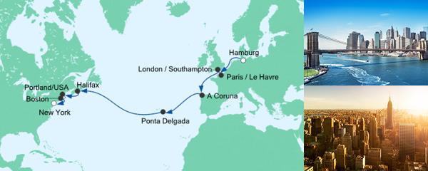 AIDA Seetours Angebot Von Hamburg nach New York