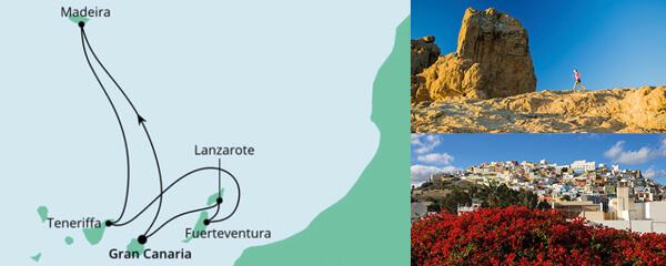 Routenverlauf Kanaren & Madeira 3 am 21.12.2019