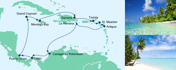 AIDA Pauschal Angebot Karibik & Mittelamerika 1