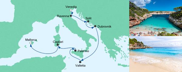 AIDA Pauschal Angebot Von Venedig nach Mallorca 1