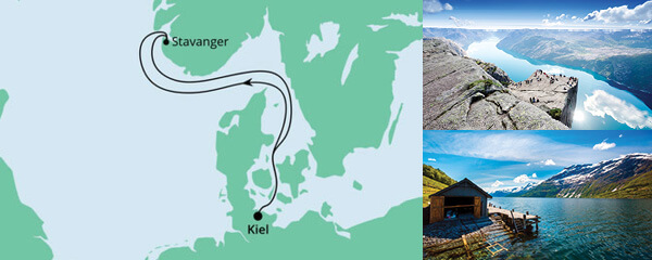 Routenverlauf Kurzreise nach Stavanger am 30.04.2021
