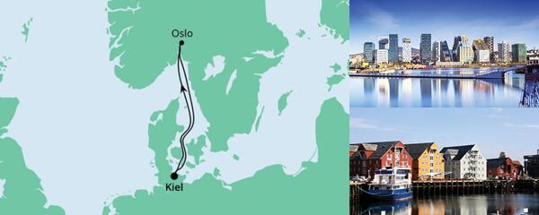 Routenverlauf Kurzreise nach Oslo am 04.05.2021