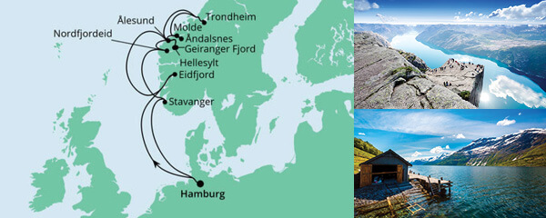 Norwegens Fjorde ab Hamburg 2