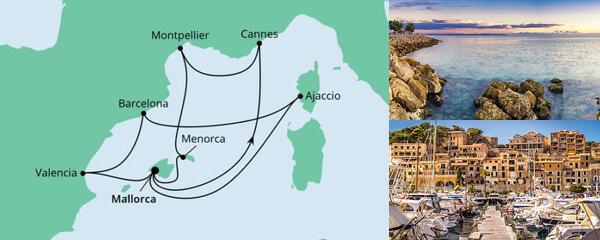 Routenverlauf Balearen, Frankreich & Spanien am 06.05.2021