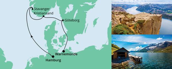 Routenverlauf Norwegen & Schweden am 06.04.2022