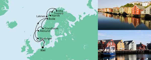 Routenverlauf Herbstliche Nordlichter ab Kiel am 04.09.2022