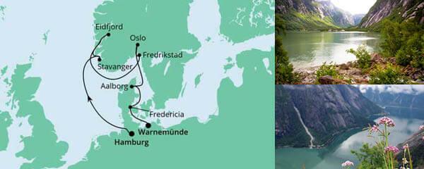 Routenverlauf Südnorwegens Küste am 06.05.2022