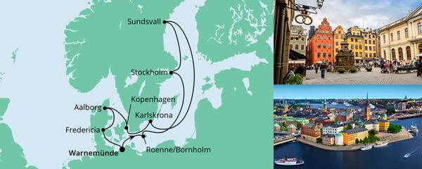 Routenverlauf Schärengärten der Ostsee mit Hansesail 1 am 01.08.2022