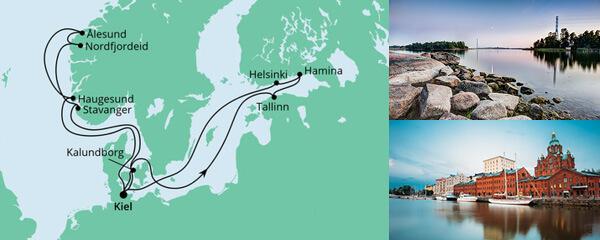 Routenverlauf Norwegen & Ostsee 2 am 03.09.2022