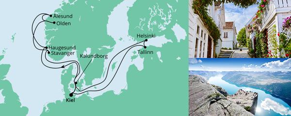 Routenverlauf Norwegen & Ostsee 2 am 30.07.2022