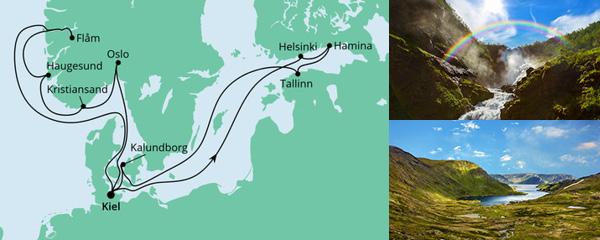 Routenverlauf Norwegen & Ostsee 1 am 28.05.2022
