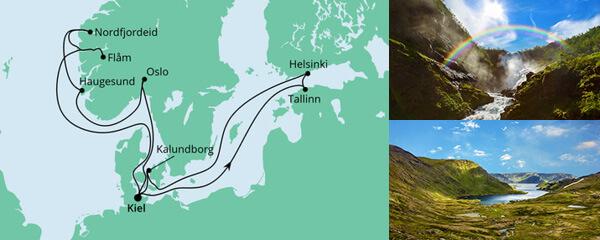 Routenverlauf Norwegen & Ostsee 1 am 06.08.2022