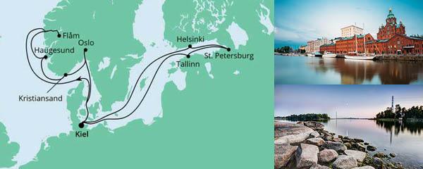 Routenverlauf Norwegen & Ostsee 1 am 04.06.2022