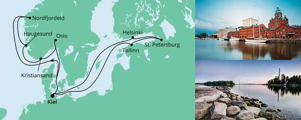 Routenverlauf Norwegen & Ostsee 1 am 02.07.2022