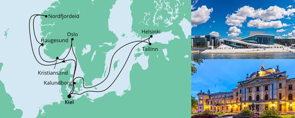 Routenverlauf Norwegen & Ostsee 1 am 27.08.2022