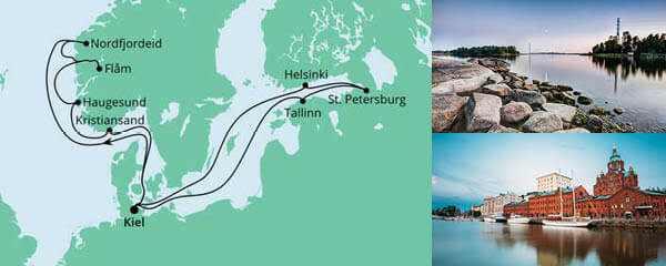 Routenverlauf Norwegen & Ostsee 1 am 16.07.2022