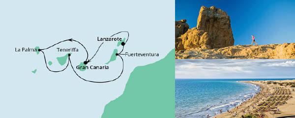 Routenverlauf Kanarische Inseln ab Gran Canaria am 08.05.2021