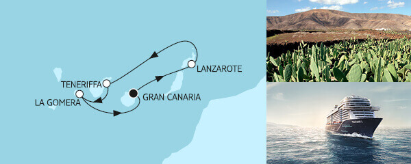 Routenverlauf Blaue Reise - Kanarische Inseln 1 am 29.04.2021