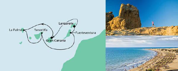 Routenverlauf Kanarische Inseln ab Gran Canaria 2 am 22.05.2021
