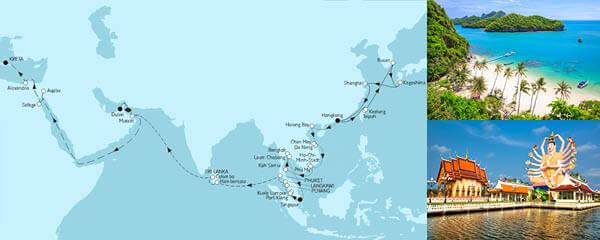 Routenverlauf Große Weltentdecker Route II am 12.04.2023