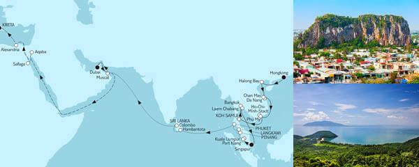 Routenverlauf Weltentdecker-Route II am 26.04.2023