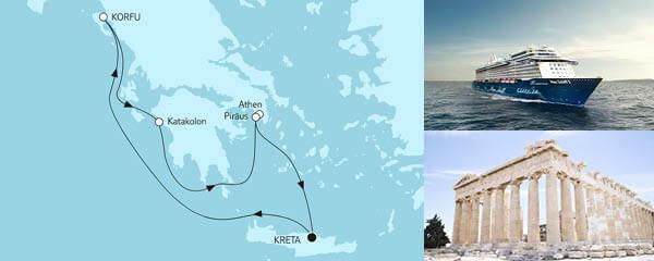 Routenverlauf Blaue Reise - Griechische Inseln 2 am 21.05.2021