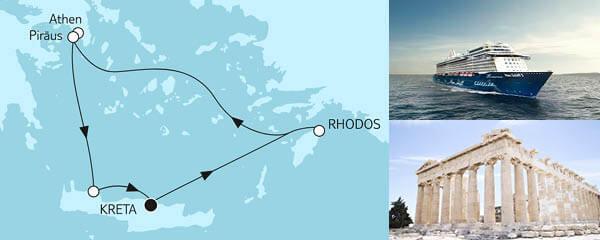 Routenverlauf Blaue Reise - Griechische Inseln 1 am 13.05.2021