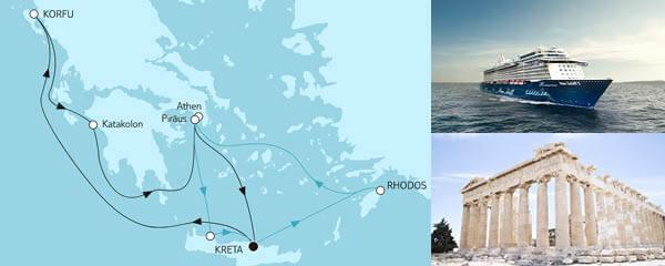 Routenverlauf Blaue Reise - Griechische Inseln 1 & 2 am 13.05.2021