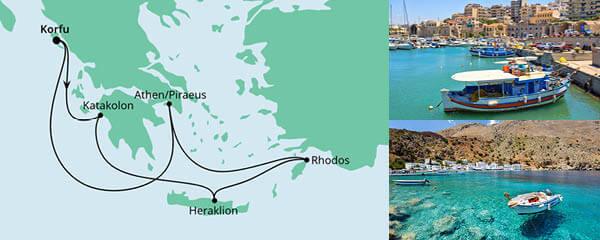 Routenverlauf Griechenland ab Korfu 2 am 06.06.2021